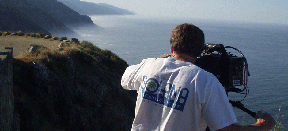 Shooting video on site at Big Sur